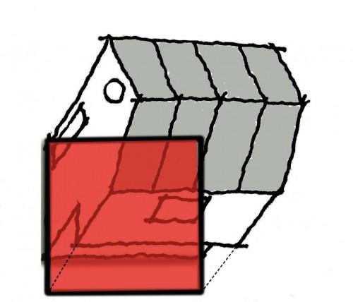 オーバーハング建築面積