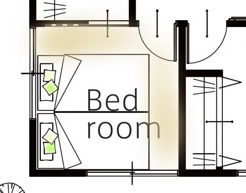 4.5帖の寝室