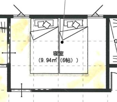 6帖の寝室