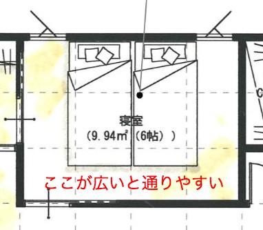 6帖+の寝室