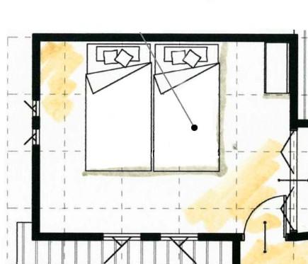 8帖の寝室