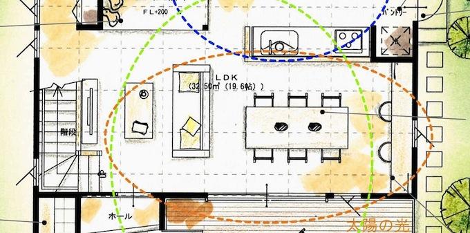 リビングの動線図面