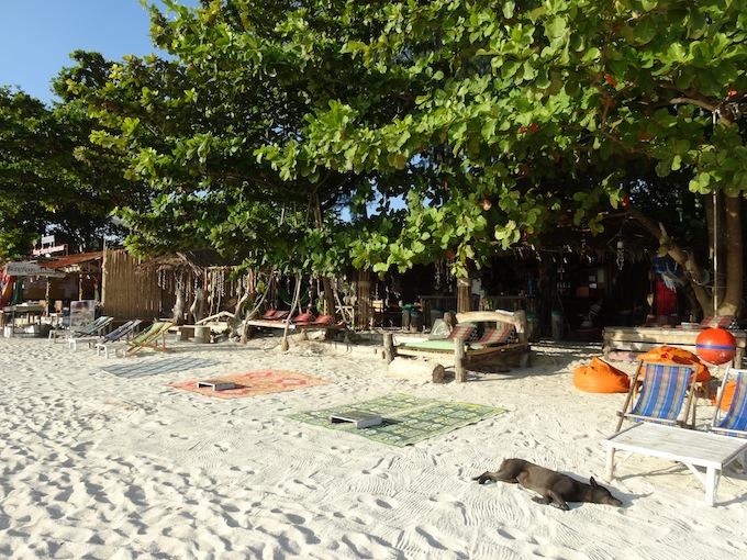 パタヤビーチのカフェ
