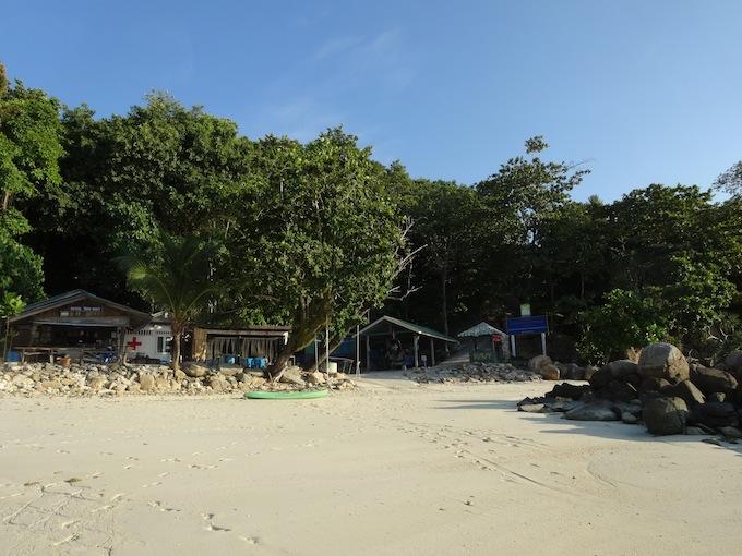 パタヤビーチの基地