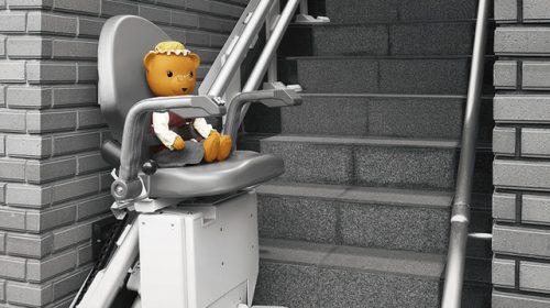 屋外階段昇降機