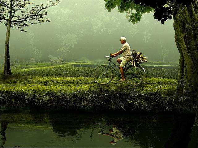 土地と自転車