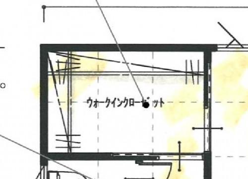 ウォークインクローゼットの図面