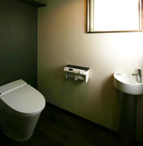 タンクレストイレの手洗い