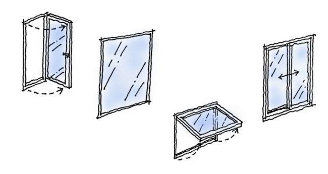 ウォークインクローゼットの窓