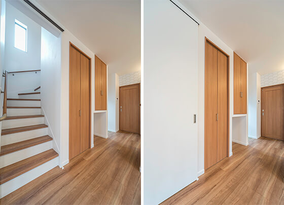 リビング階段の扉