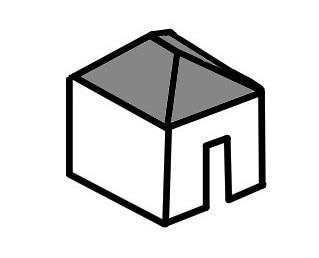 屋根の種類(寄棟屋根)