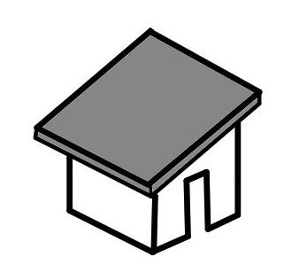軒の出た屋根