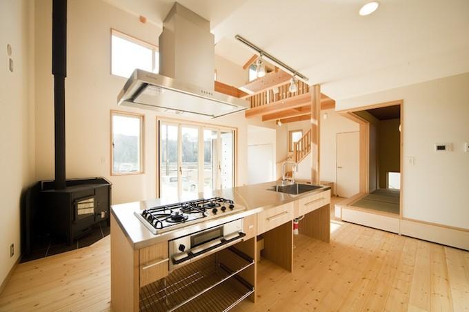 シンプルな造作キッチン