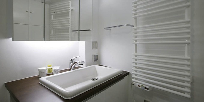 洗面脱衣室のタオルウォーマー