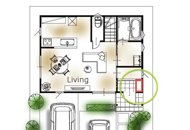 玄関収納の位置