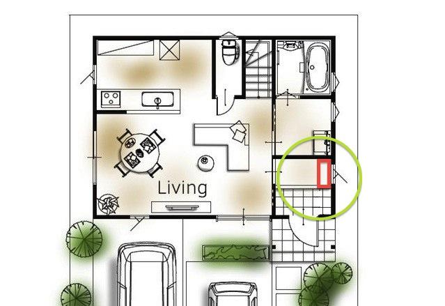 玄関収納の位置2