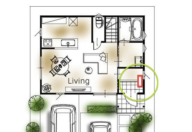 玄関収納の位置3