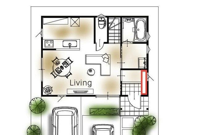 玄関収納の位置4