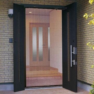 玄関ドアの網戸