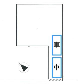 旗竿地の駐車