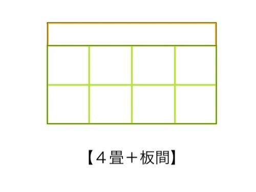 4畳の畳コーナーに板間
