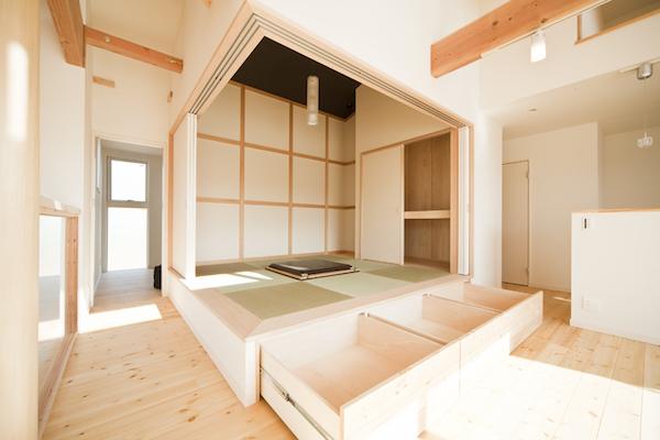 小上がり和室の収納