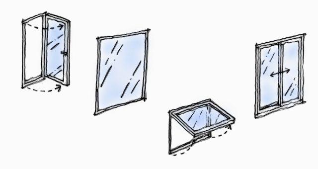シューズクロークと窓