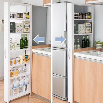 冷蔵庫の隙間収納