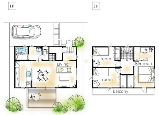 家の坪数(27坪の家)