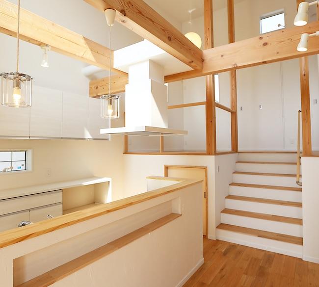 2階リビング スキップフロア