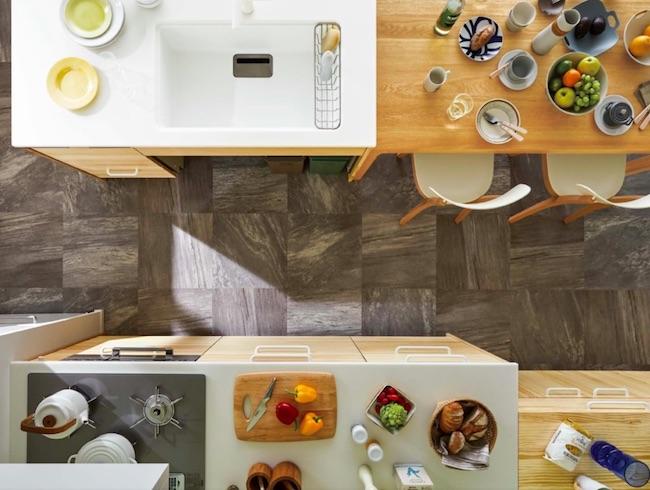 Ⅱ型キッチンのレイアウト