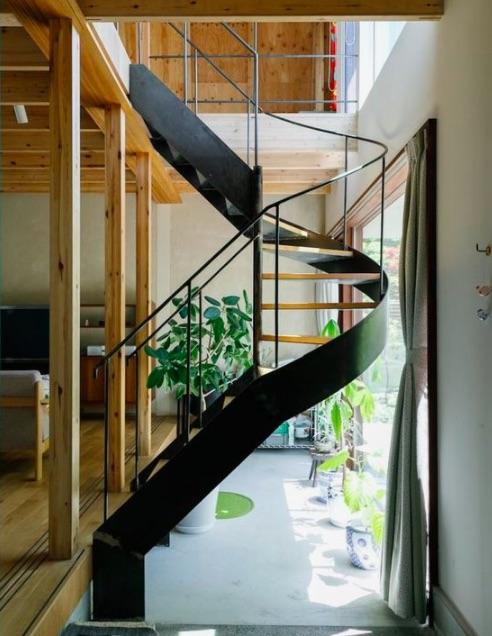 スチール製まわり階段