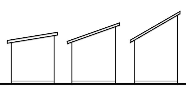 片流れ屋根 角度の違い