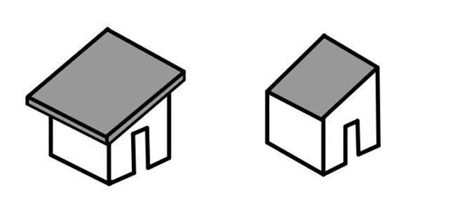 片流れ屋根の軒の出