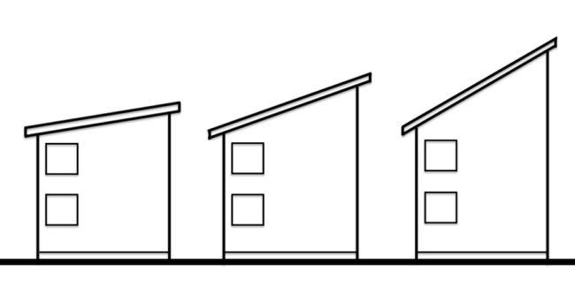 片流れ屋根 角度の違い2
