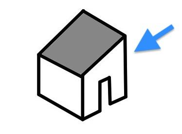 片流れ屋根の側面