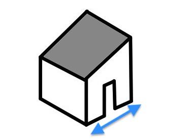 片流れ屋根の間口
