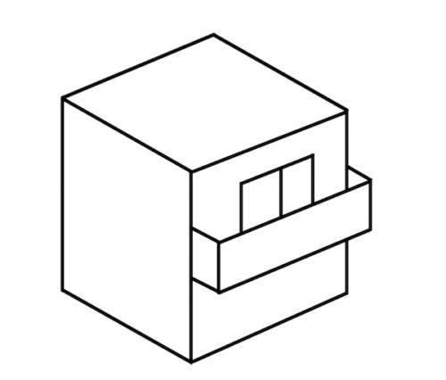 カッコよくない四角い家