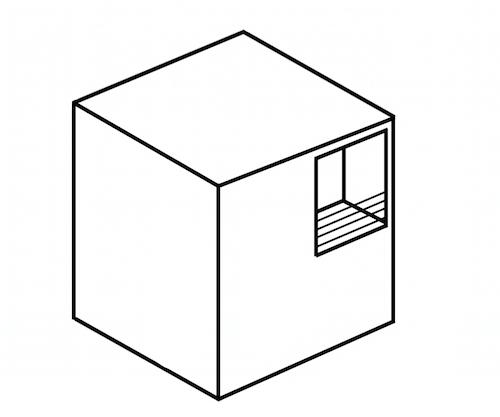 引き算した四角い家