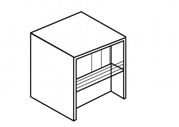 大きく引き算した四角い家