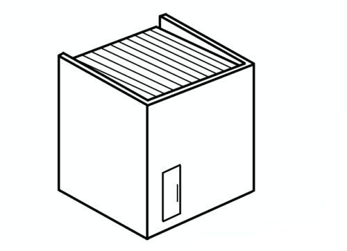 四角い家の屋根