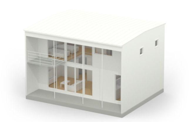 四角い家の模型