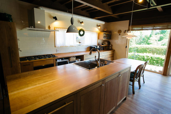 木製キッチン(造作)
