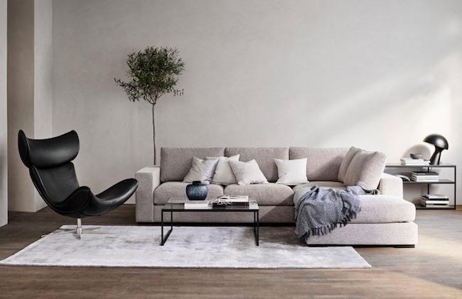 落ち着きのあるソファ