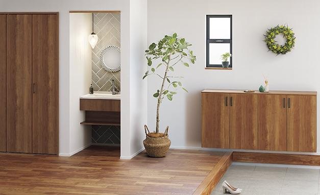 ゆとりのある玄関の手洗い