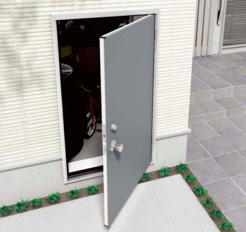 外部収納の扉